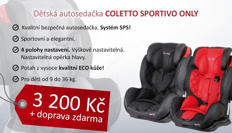 Autosedačka Coletto Sportivo Only